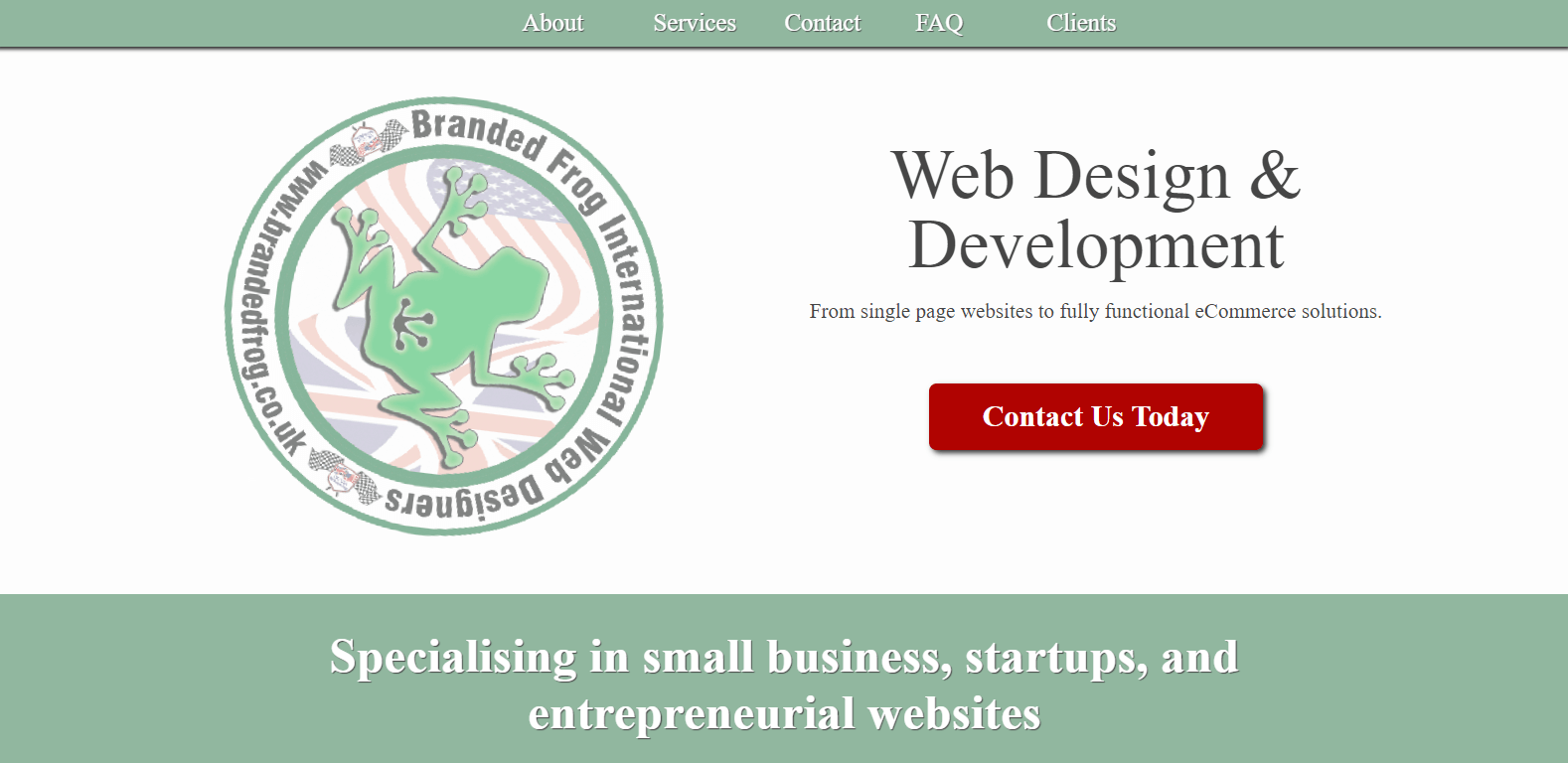 Branded Frog: Web Design - Design & Developmen